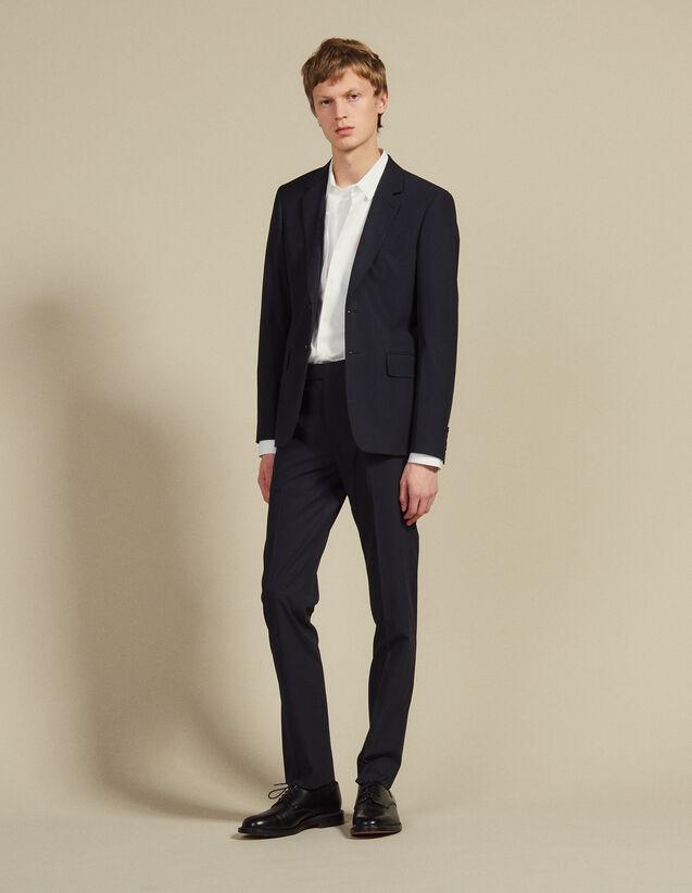Pantaloni Da Completo In Cotone : SOLDES-CH-HSelection-PAP&ACCESS-2DEM colore Nero Di Seppia