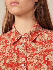 Camicia in seta stampata : FBlackFriday-FR-FSelection-30 colore Rosso
