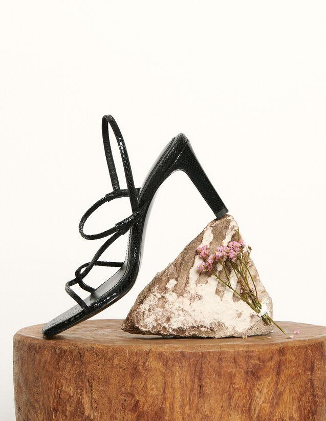 Sandali con cinturini sottili : Tutte le Scarpe colore Nero