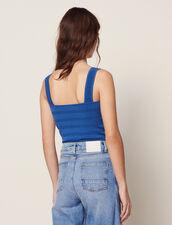 Top Corto In Maglia : null colore Blue jeans