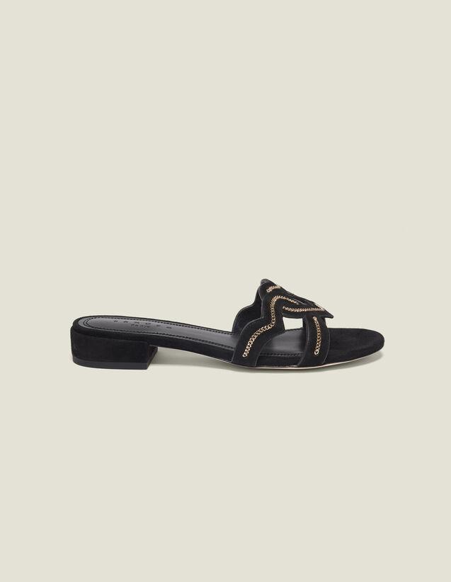 Sandali Cuore In Capretto Scamosciato : Tutte le Scarpe colore Nero