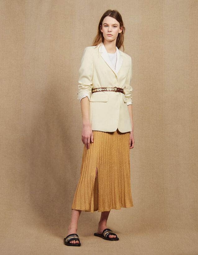 Veste De Tailleur À Col Contrasté : null couleur Ecru