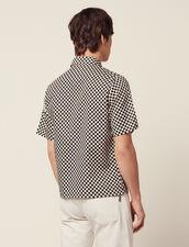 Camicia A Scacchi In Tessuto Giapponese : Camicie colore Nero