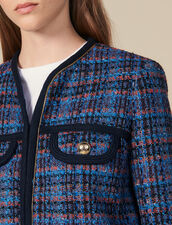 Veste en tweed à carreaux : LastChance-ES-F20 couleur Multicolore