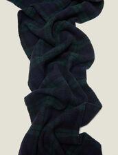 Sciarpa In Lana A Quadri : Sciarpe colore Vert foncé