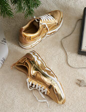 Sneaker Flame : Must-Have colore Full Gold