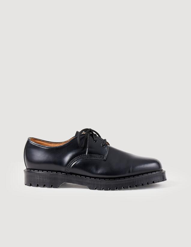 Derby con suola carrarmato : Scarpe colore Nero