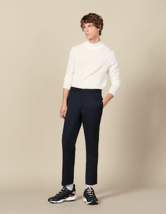 Pantalon Classique : HCollectionHiver couleur Marine