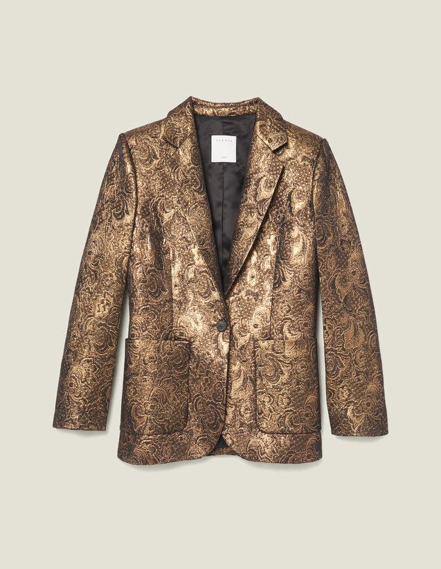 Giacca Da Tailleur In Broccato : Giacche & Giubbotti colore Oro
