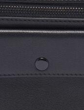 Piccola Pochette In Pelle Liscia : Tutta la Pelletteria colore Nero