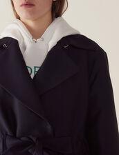 Cappotto Stile Trench : null colore Blu Marino