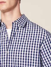 Camicia Vichy In Tessuto Giapponese : LastChance-CH-HSelection-Pap&Access colore Blu Marino