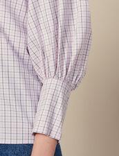 Camicia In Popeline A Quadretti : Top & Camicie colore Rosa