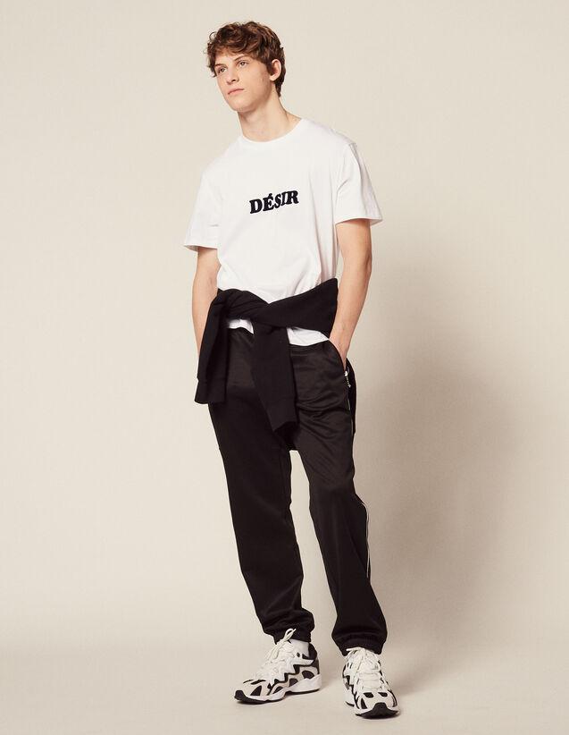 T-Shirt In Cotone Con Scritta : Magliette & Polo colore Bianco