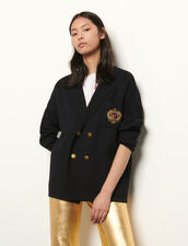 Cardigan oversize stile blazer : Maglieria & Cardigan colore Blu Marino