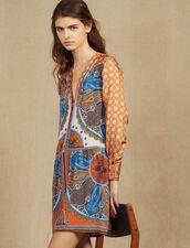 Robe Courte Imprimée Boutonnée : LastChance-FR-FSelection couleur Multicolore