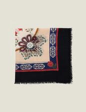 Foulard In Lana Stampata : null colore Multicolore