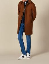 Manteau de ville oversize : LastChance-IT-H40 couleur Camel