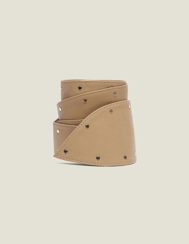Cintura Alta Da Annodare Con Borchie : Collezione Estiva colore Beige