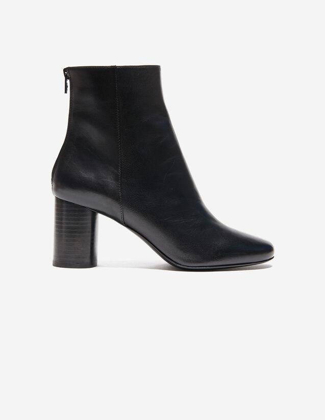Bottines En Cuir : Toutes les Chaussures couleur Noir