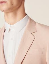 Giacca Da Completo In Misto Lino : Sélection Last Chance colore Rosa pallido