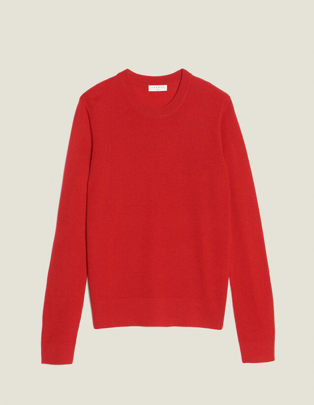 Pullover In Maglia Fantasia Sottile : Sélection Last Chance colore Rosso