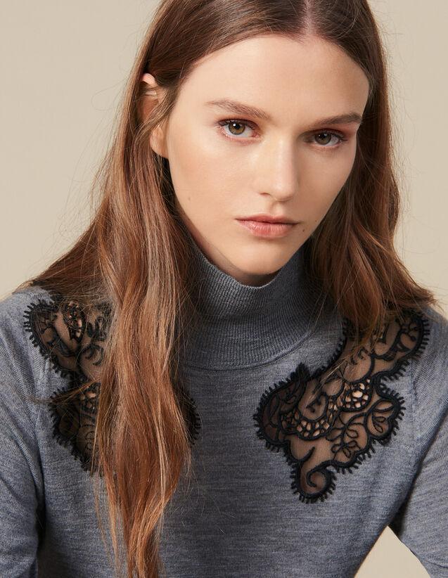 Pullover A Collo Alto : Maglieria & Cardigan colore Grigio