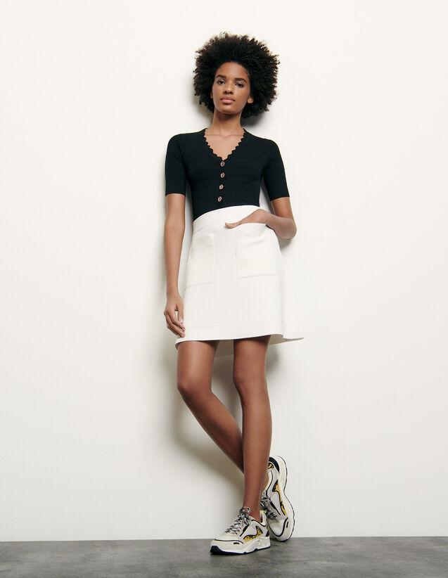 Gonna corta in maglia : Gonne & Short colore Bianco