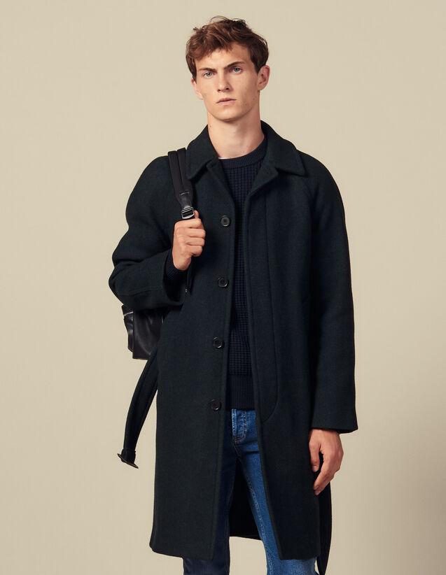 Cappotto Con Cintura : Collezione Inverno colore Vert foncé