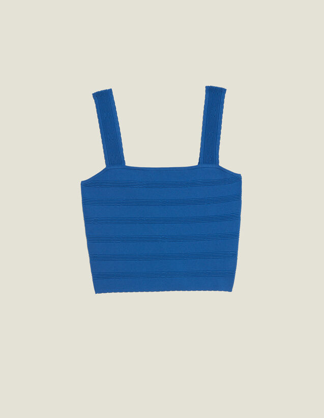 Top Corto In Maglia : Top & Camicie colore Blue jeans