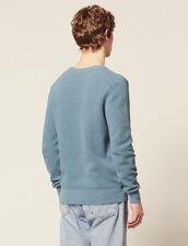 Pullover Con Maglia In Rilievo In Cotone : Copy of Tutta la Selezione colore Blu acciaio