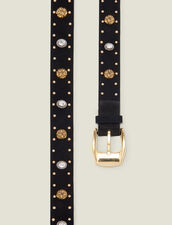 Cintura ornata da rivetti e strass : L'intera collezione Invernale colore Nero