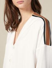 Camicia Fluida Con Decorazione A Righe : LastChance-ES-F20 colore Ecru