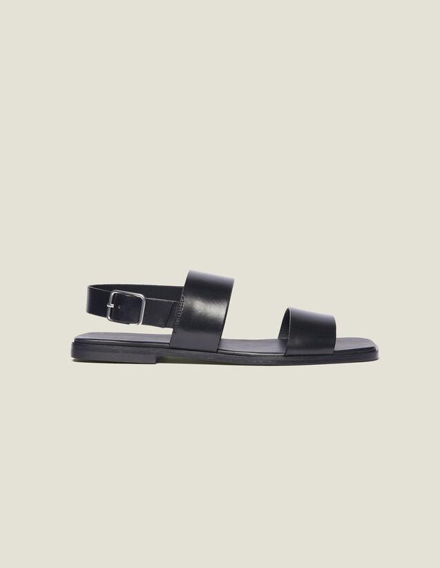 Sandali In Pelle : Scarpe colore Nero