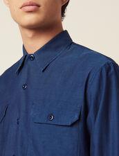 Camicia Fluida Con Motivo Chevron : LastChance-CH-HSelection-Pap&Access colore Blu