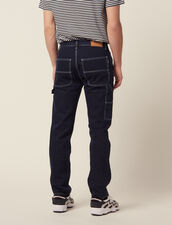 Pantaloni In Denim Con Impunture : Sélection Last Chance colore Blue Night - Denim