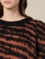 Pullover Peloso In Jacquard Zebrato : Maglieria & Cardigan colore Noir / Acajou