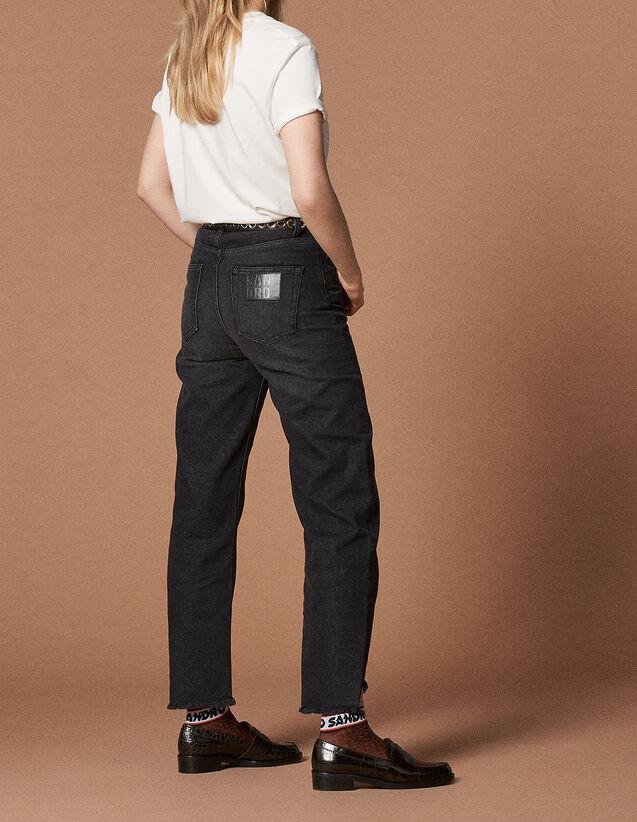 Jeans linea dritta a vita alta : Tutta la Selezione colore Nero