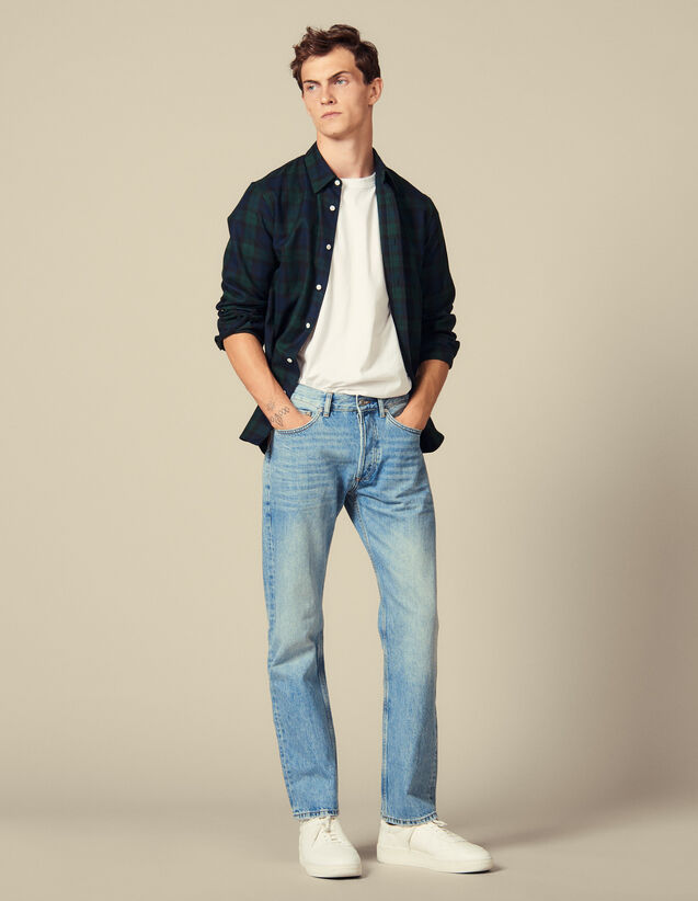 Jean délavé : LastChance-IT-H50 couleur Blue Vintage - Denim