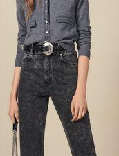 Cintura In Pelle Con Fibbia Lavorata : L'intera collezione Invernale colore Nero