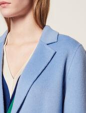 Manteau En Laine Double Face : null couleur Bleu Ciel