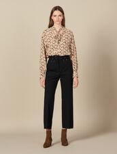 Pantaloni con cintura ornata di borchie : FBlackFriday-FR-FSelection-Pantalons&Jeans colore Nero