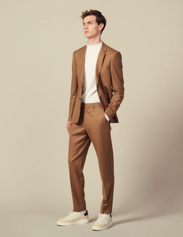 Pantaloni da completo in lana : Abiti & Smoking colore Cammello