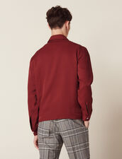 Giacca Fluida Con Zip : Sélection Last Chance colore Bordeaux