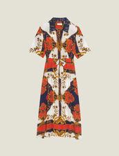 Robe Chemise En Imprimé Foulard : null couleur Multicolore