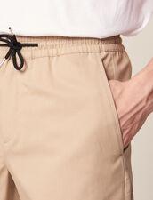 Bermuda Con Cordoncino In Vita : Pantaloni & Short colore Beige