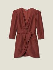 Robe Courte Portefeuille : FTout-le-PAP couleur Wine