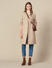 Cappotto In Lana Doppiopetto : Copy of VP-FR-FSelection-PAP&ACCESS colore Beige