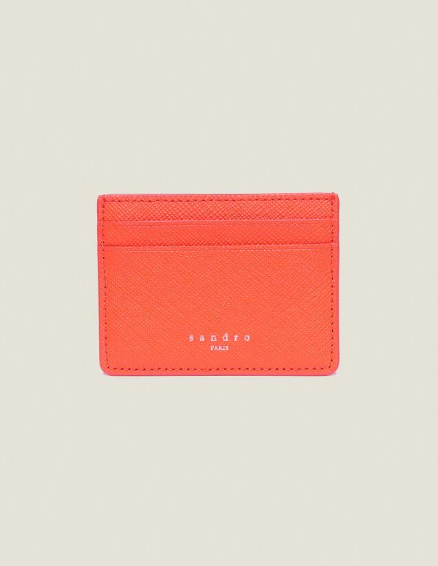 Porta Carte In Pelle : Collezione Estiva colore Arancio