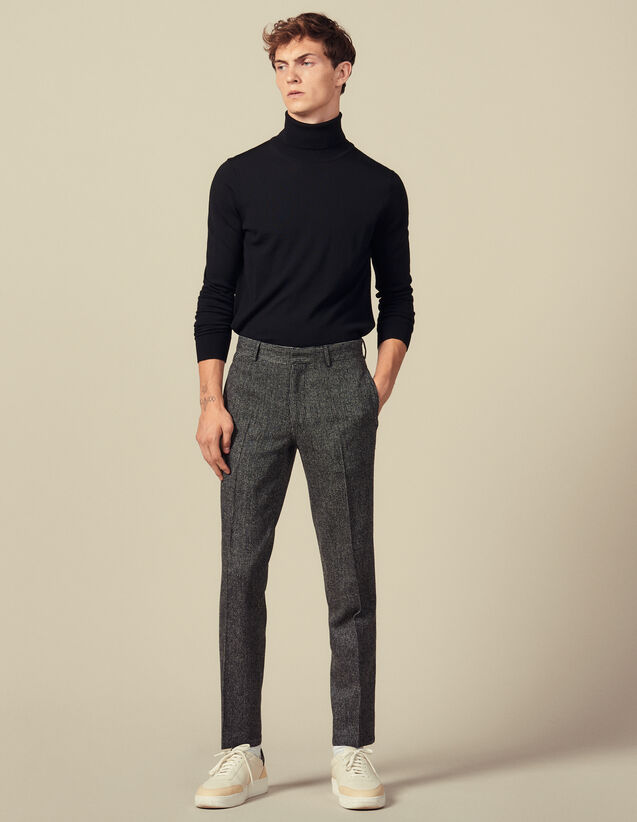 Pantaloni da completo spessi : Abiti & Smoking colore Grigio